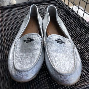 Coach Silver Metallic Loafers